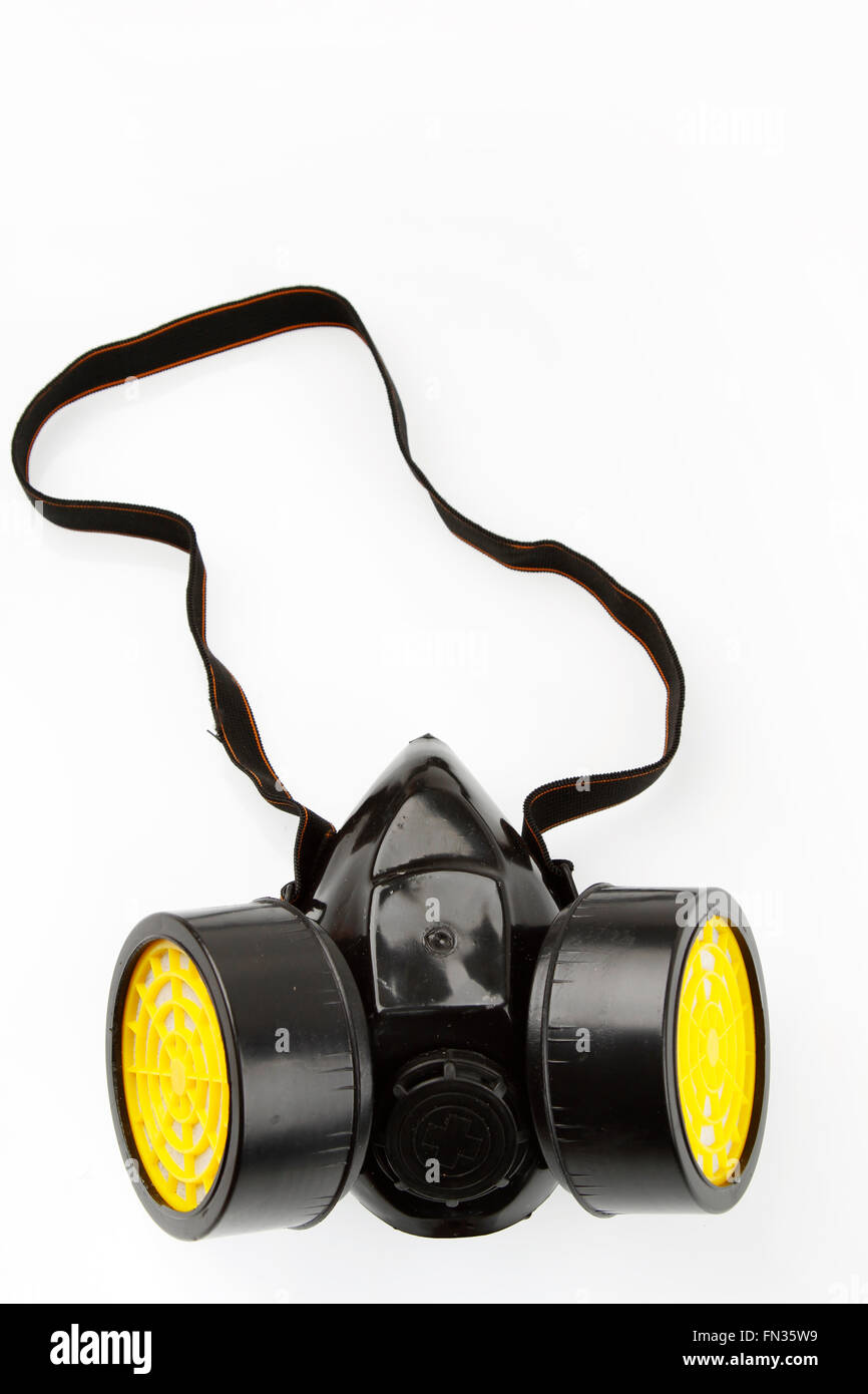 Respirator isolated on plain background - Stock Image