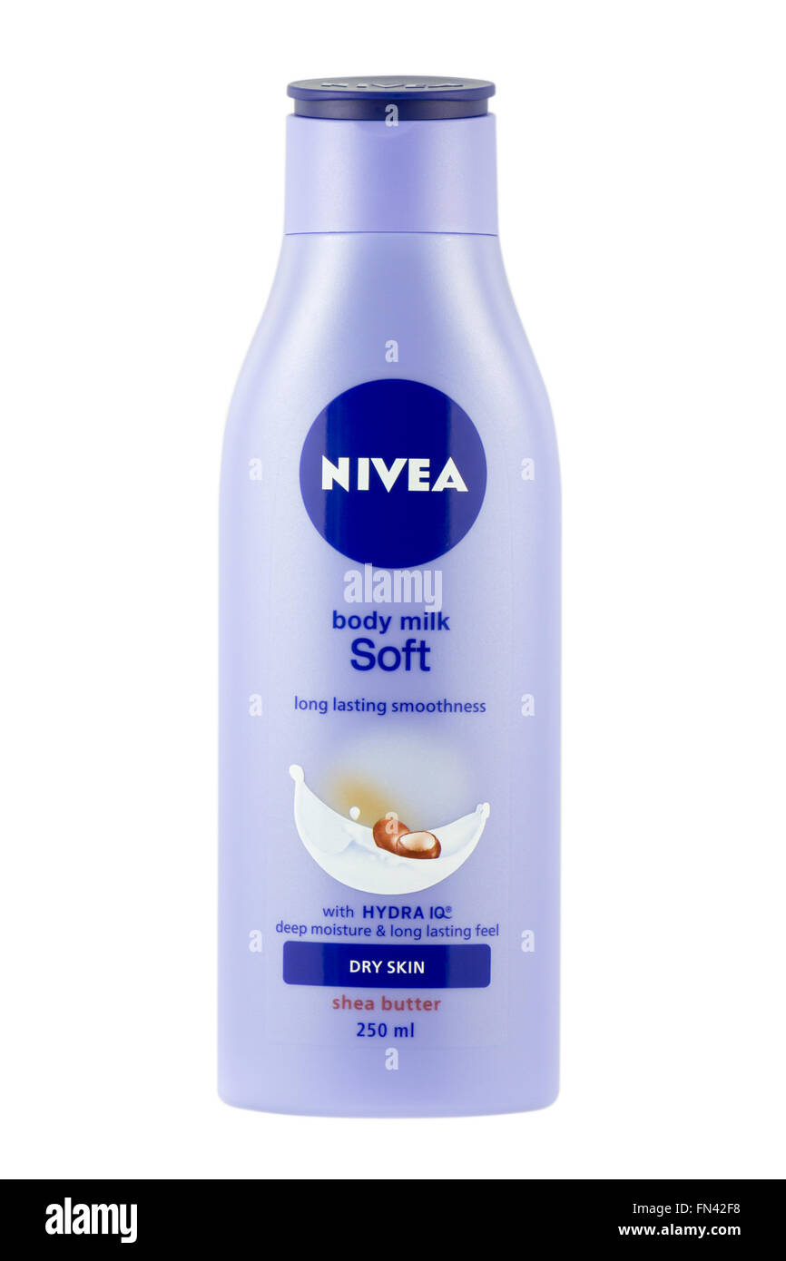 Nivea Soft Body Milk. - Stock Image