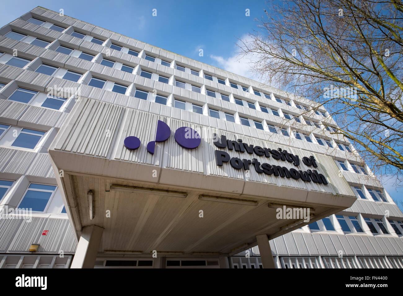 Exterior of Portsmouth University, Portsmouth, Hampshire, UK - Stock Image