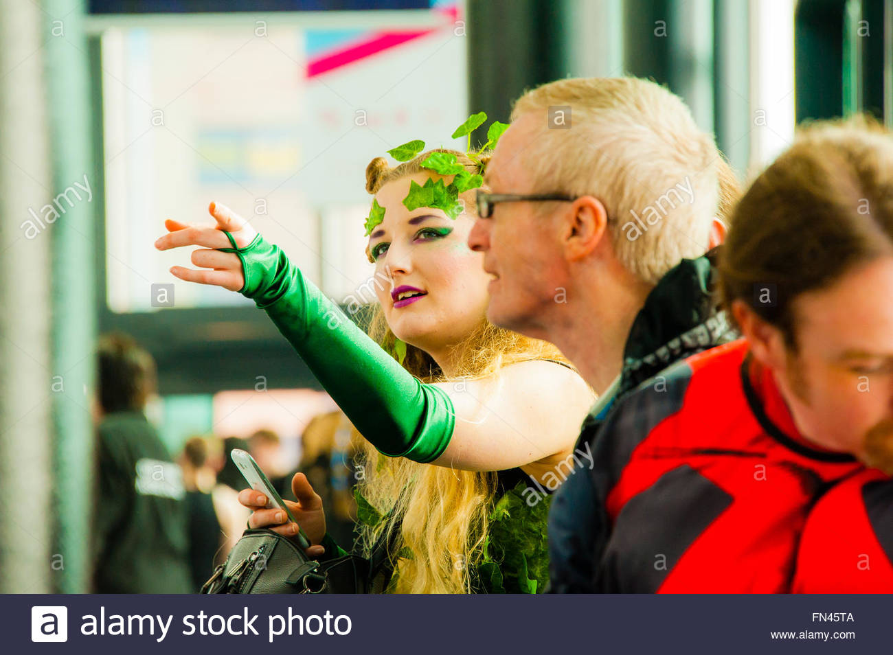 Liverpool, England UK, Sunday 13th March 2016. Fans of Comics, Superheroes & Anime,visit the 2nd day of Liverpool Stock Photo