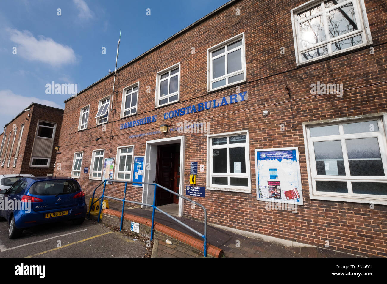 Portsmouth central Police station, Portsmouth, Hampshire, UK - Stock Image
