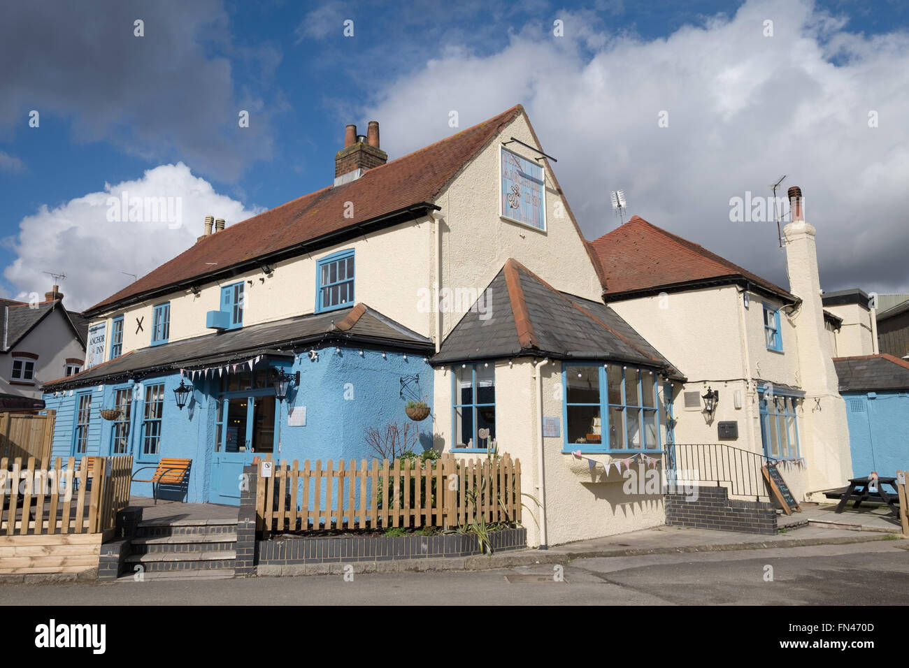 The Anchor Inn pub in Eling, Totton, Hampshire, UK - Stock Image
