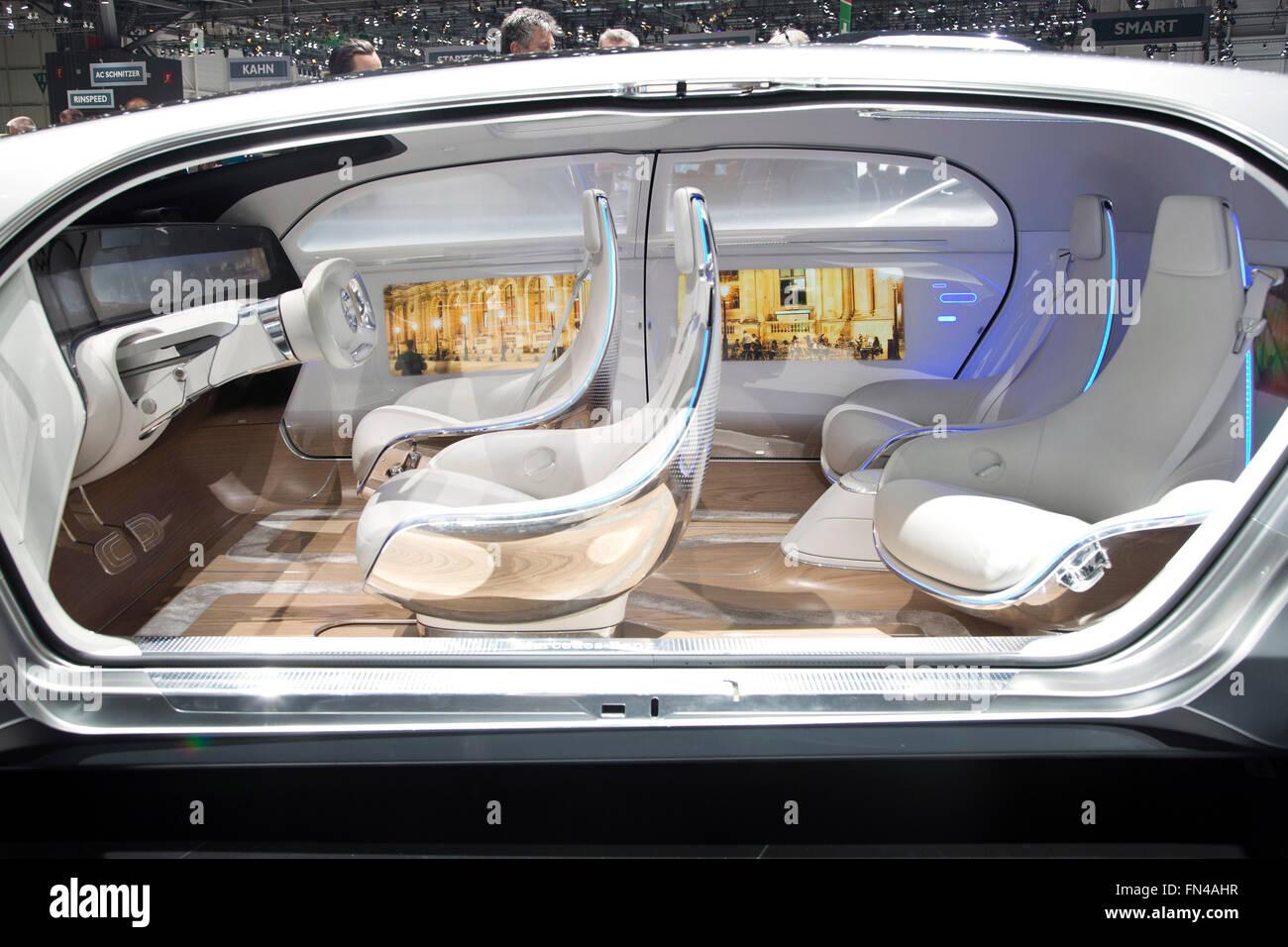 Mercedes benz f015 autonomous car concept at the geneva for Mercedes benz f 015 price