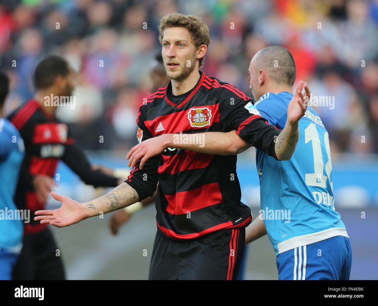 Leverkusen, Germany. 13th March, 2016. Football Bundesliga, matchday 26, Leverkusen, Germany, 13.03.2016, Bayer - Stock Image