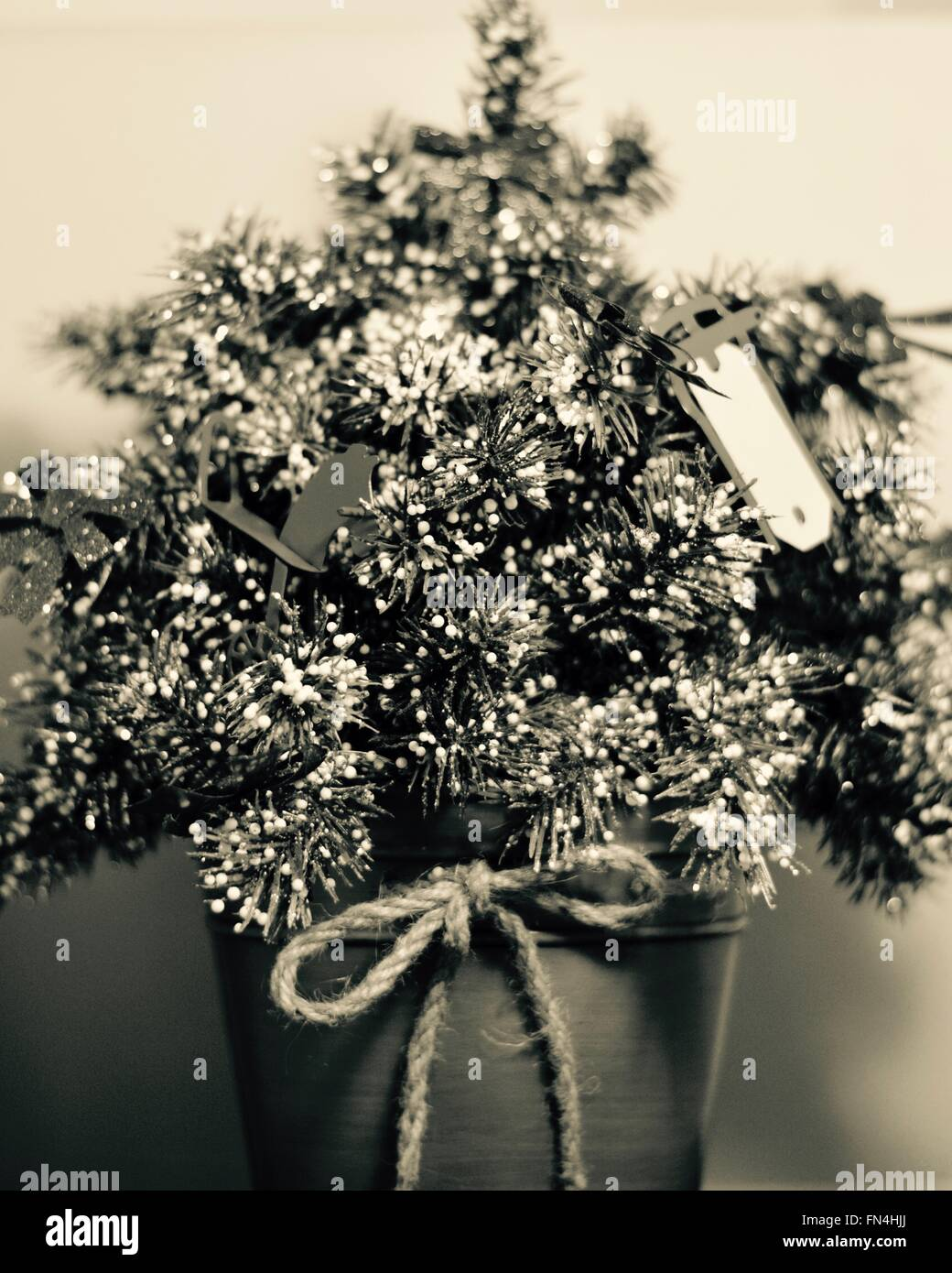 'An Old Fashioned Christmas'. Photographed in black in white to bring out the nostalgia of times past. - Stock Image
