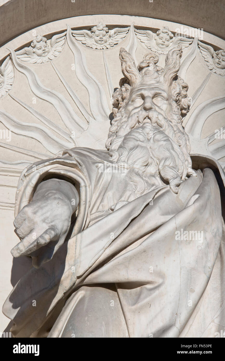 Moses statue - Stock Image