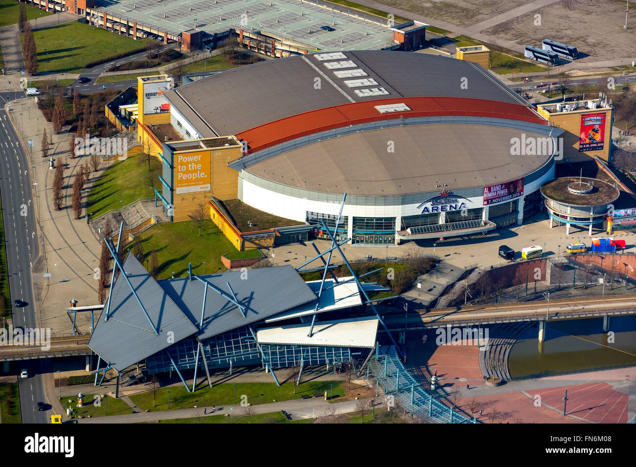 Aerial view, King-Pils Arena, event hall at the Centro Oberhausen, Oberhausen, Ruhr area, North Rhine Westphalia, - Stock Image