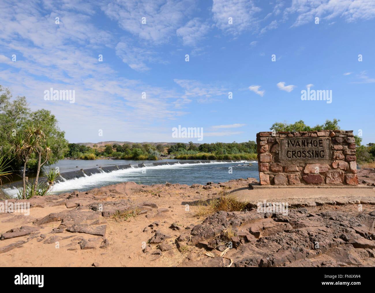 Ivanhoe Crossing, Ord River, Kununurra, Kimberley Region, Western Australia - Stock Image