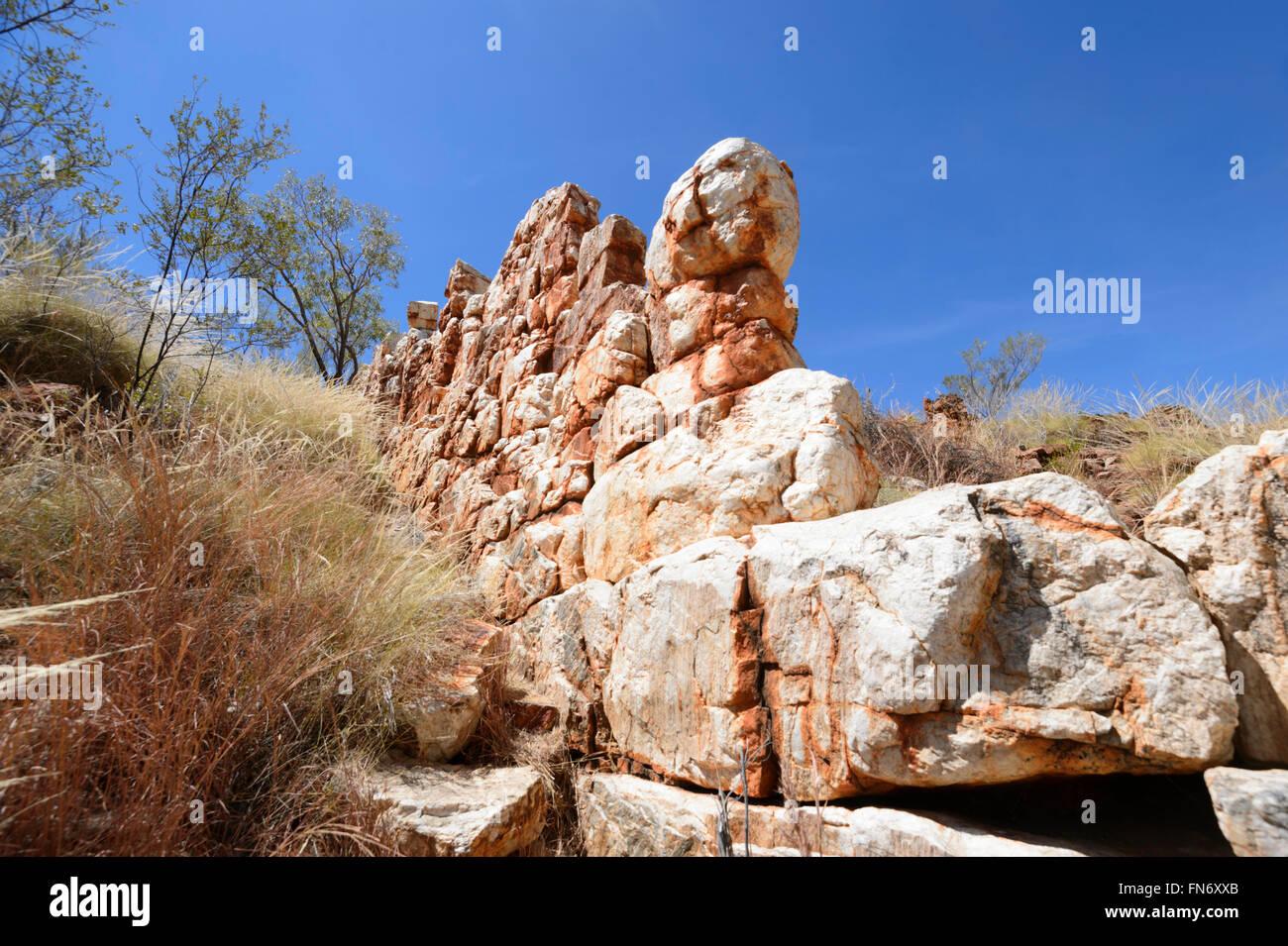 China Wall, Halls Creek, Kimberley Region, Western Australia, Australia - Stock Image