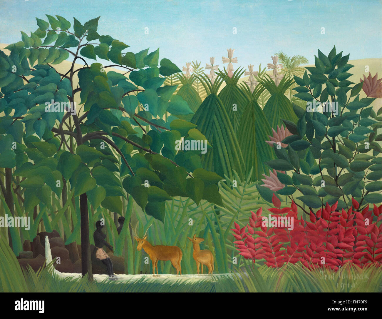 Henri Rousseau - The Waterfall - Stock Image