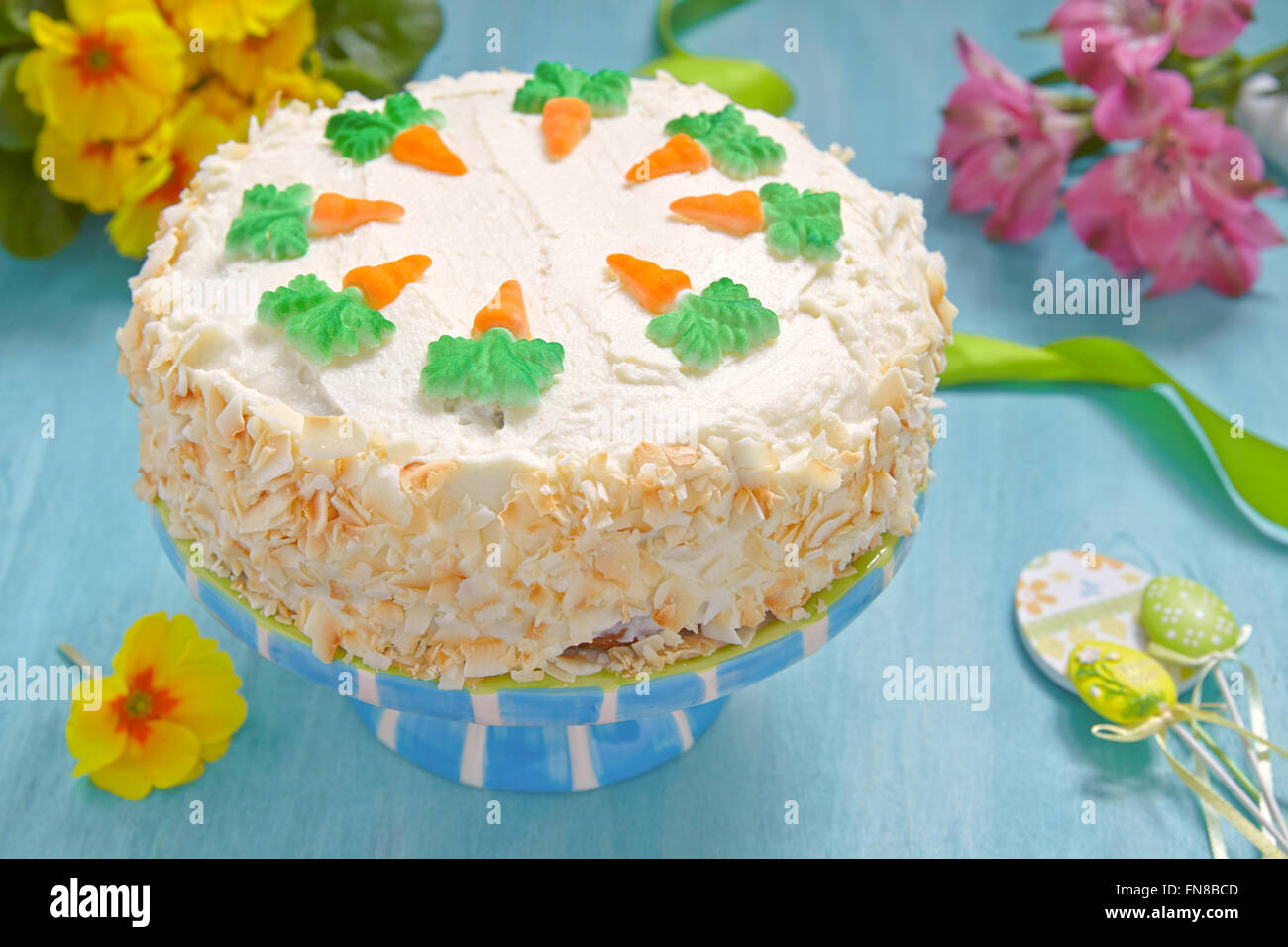 Delicious Carrot Cake - Stock Image