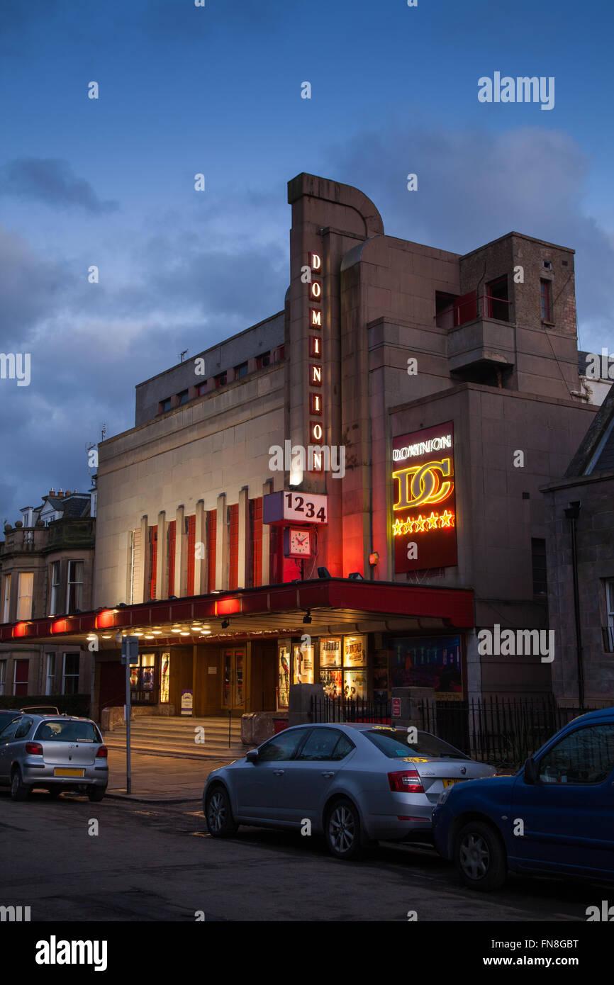 The Art Deco Dominion cinema in Morningside Edinburgh Scotland. - Stock Image
