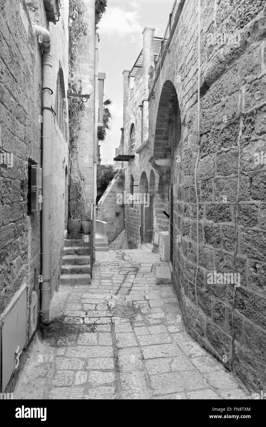Tel Aviv - Little aisle of old Jaffa - Stock Image