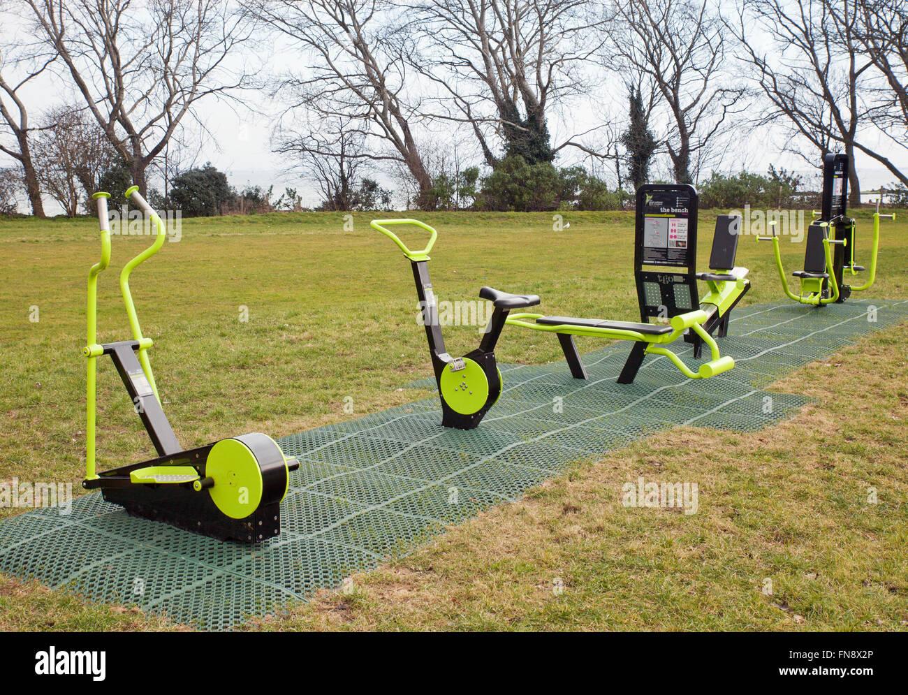 outdoor fitness park stock photo 99155694 alamy. Black Bedroom Furniture Sets. Home Design Ideas
