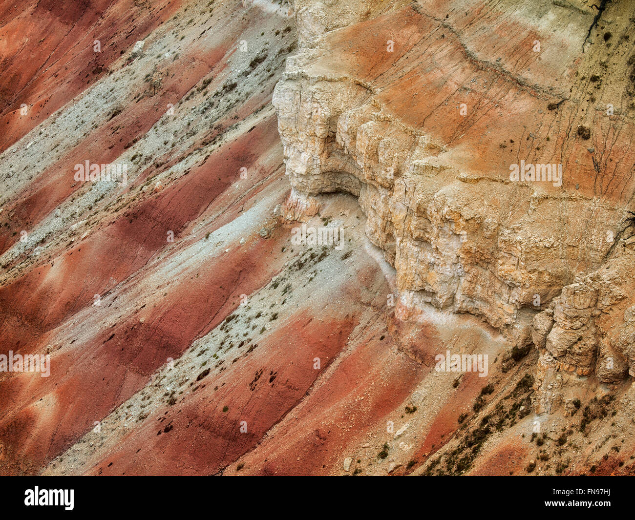 Canyon lands in Cedar Breaks National monument, Utah - Stock Image