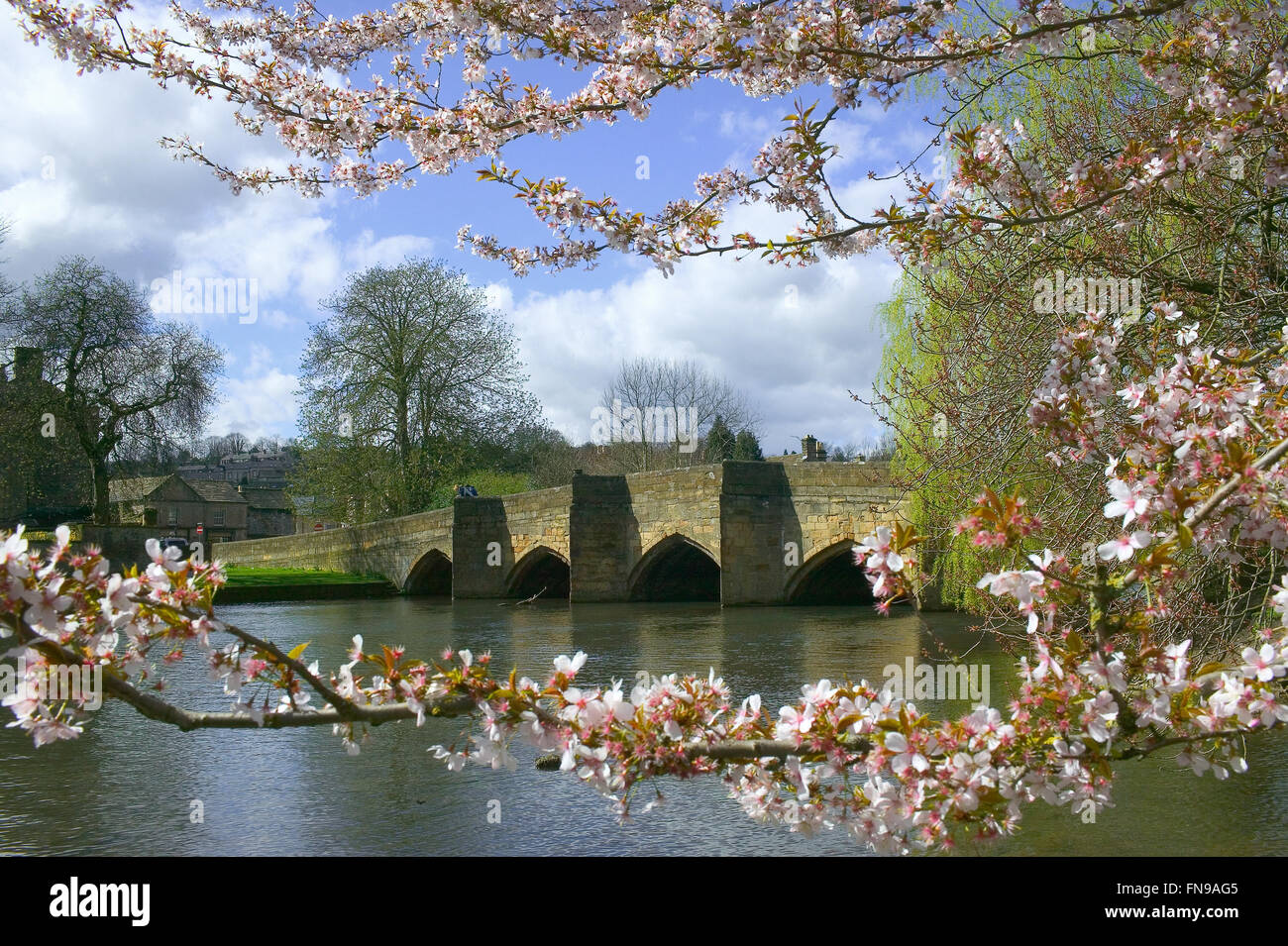 Bakewell bridge Derbyshire Peak District - Stock Image