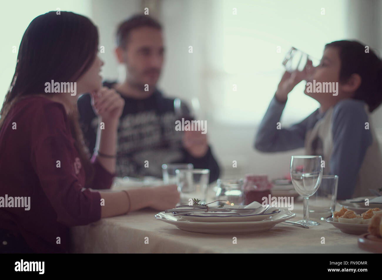 Family eating Stock Photo