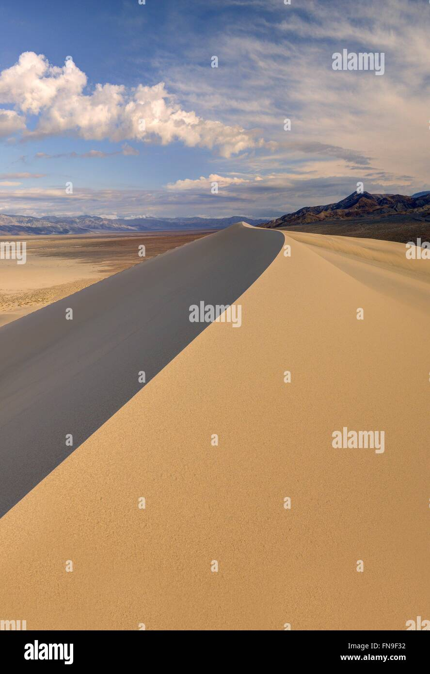 Eureka Sand Dunes, Death Valley National Park, California, America, USA - Stock Image