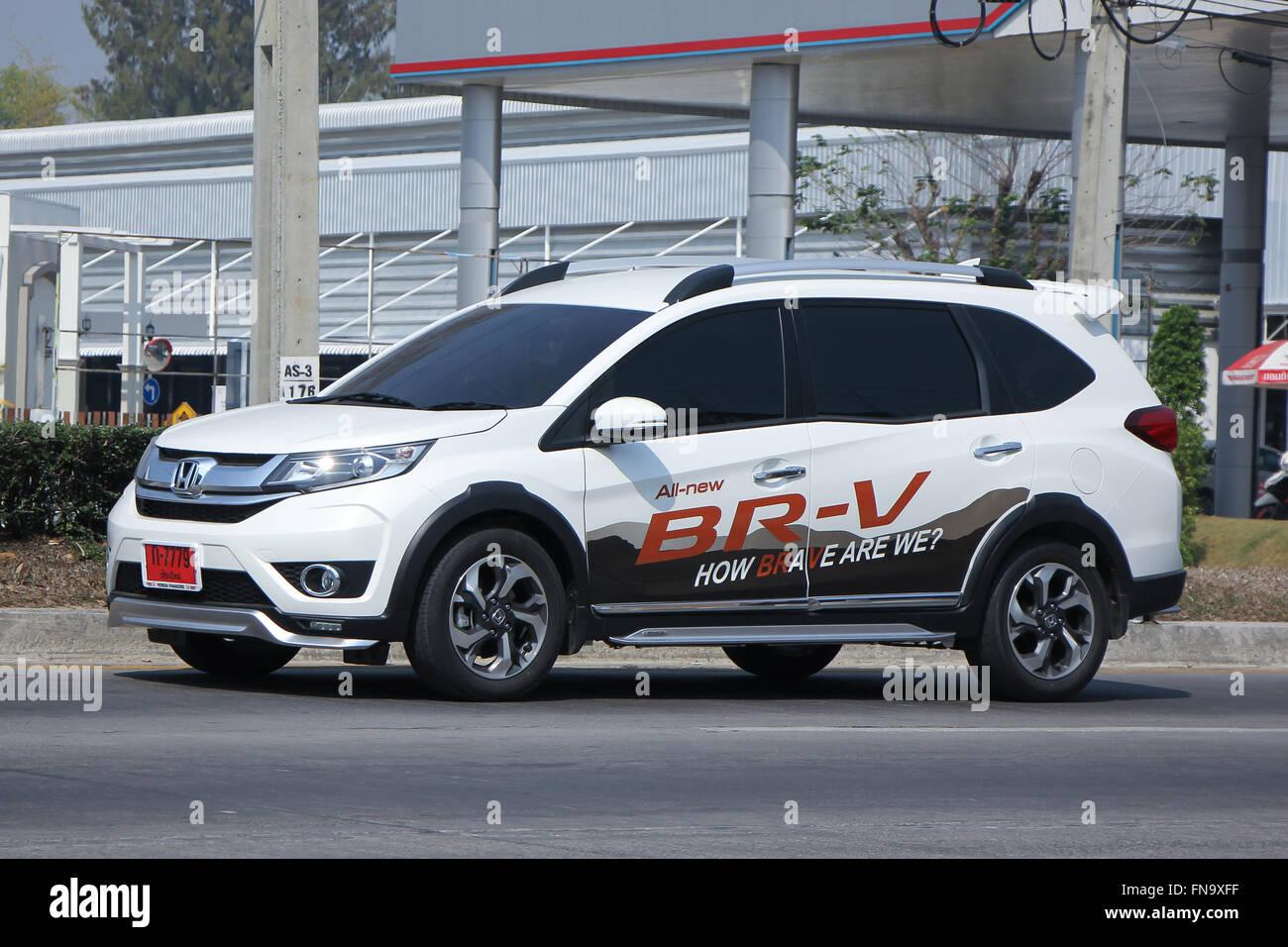 CHIANGMAI, THAILAND  FEBRUARY 16 2016: Private New Suv Car, Honda BRV. On  Road No.1001, 8 Km From Chiangmai City.