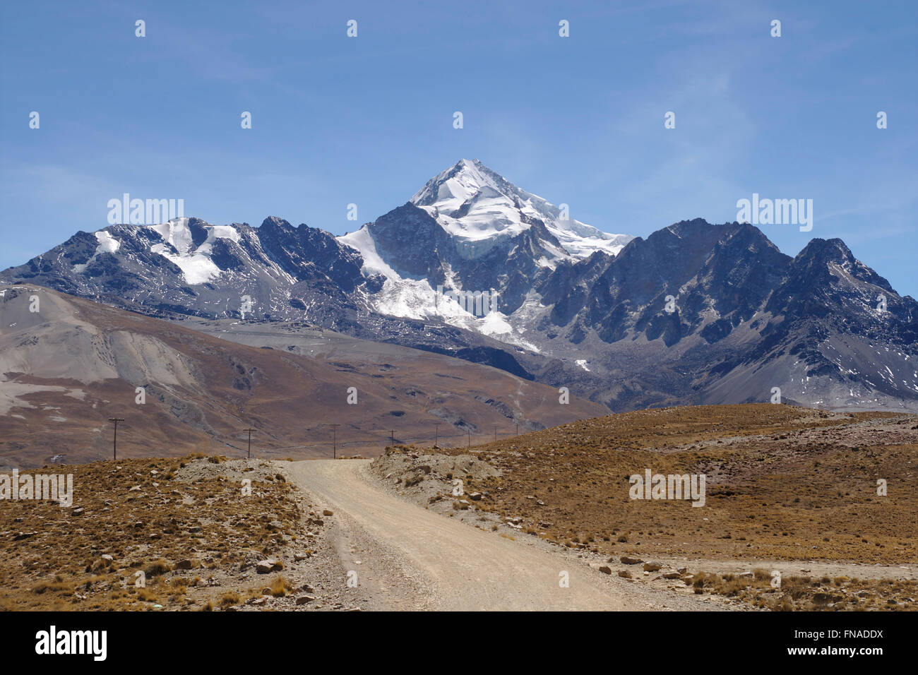 Huayna Potosi in the Cordillera Real, Bolivia - Stock Image