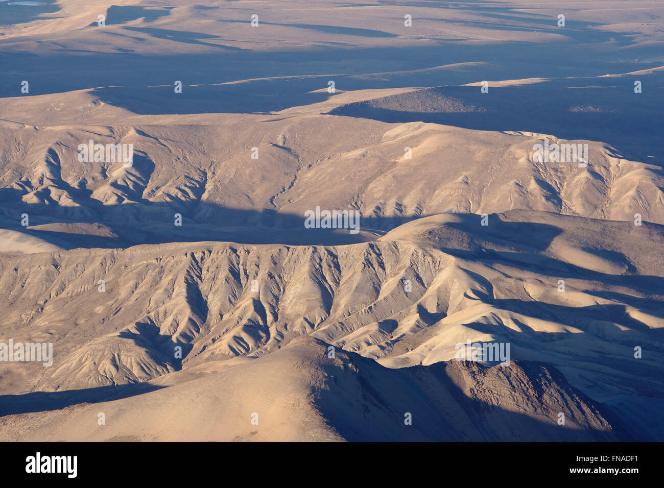 View from Huayna Potosi over the Altiplano - Stock Image