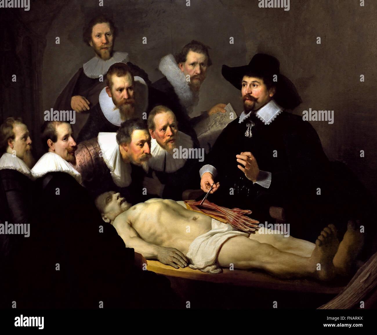 The Anatomy Lesson ( de anatomische les ) of Dr Nicolaes Tulp 1632 ...