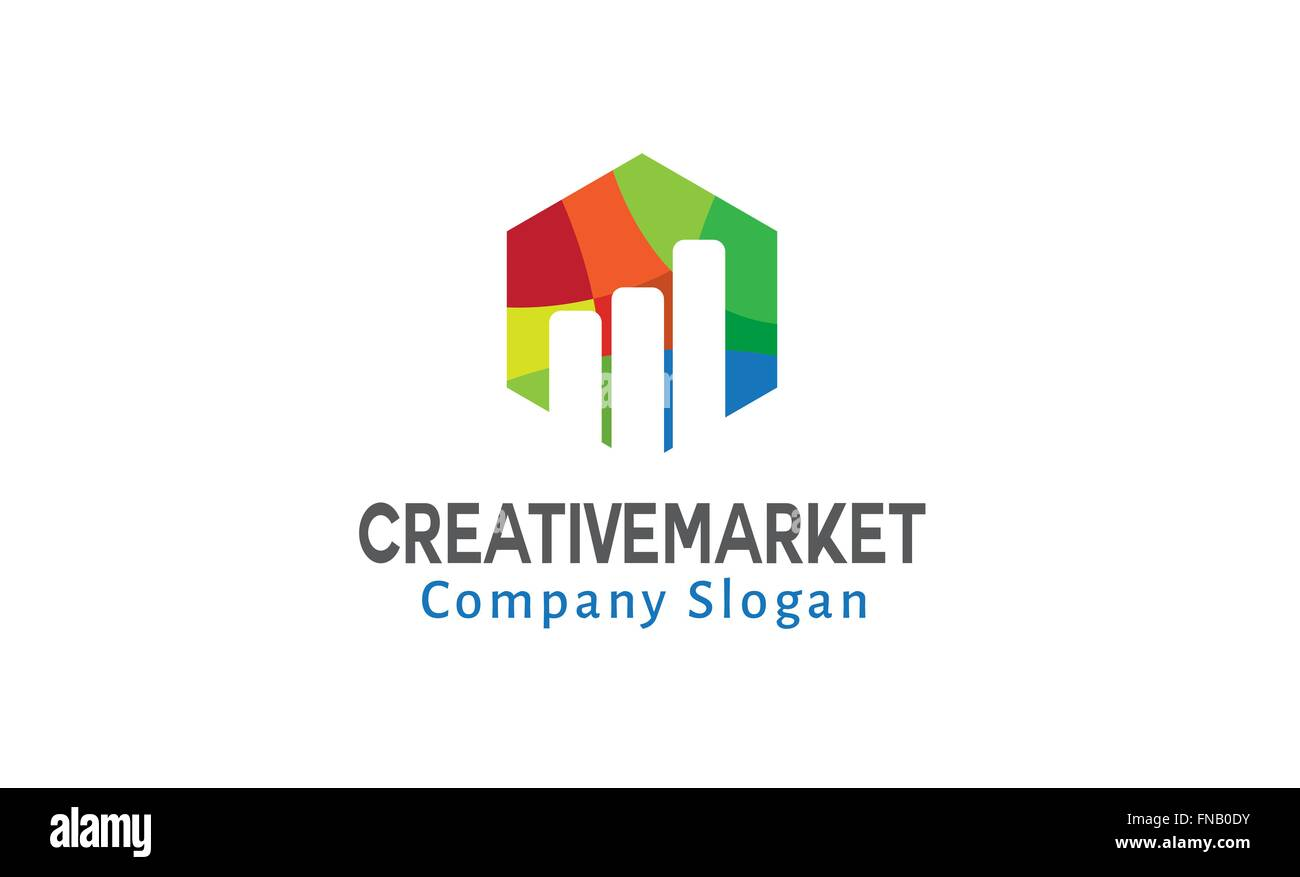 Creative Market Design Illustration - Stock Vector