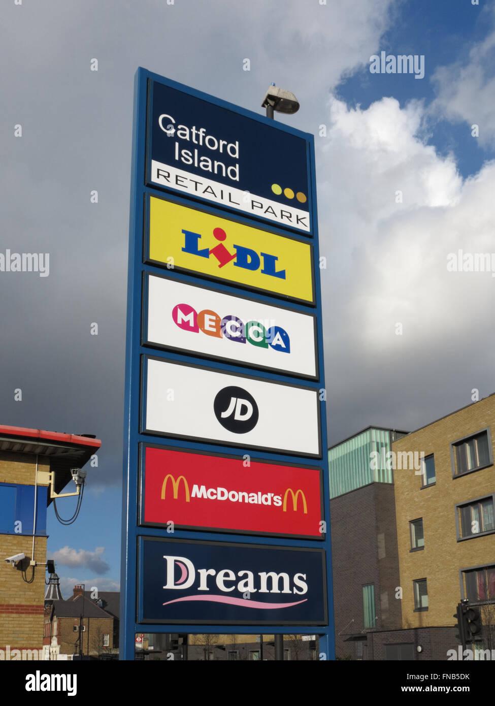 Catford Island Retail Park - Stock Image