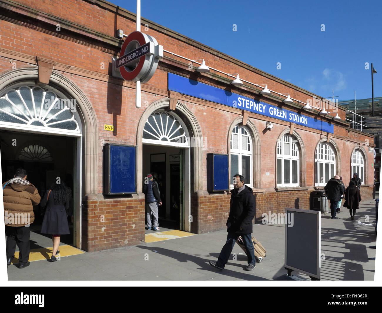 Stepney Green Underground Station - Stock Image