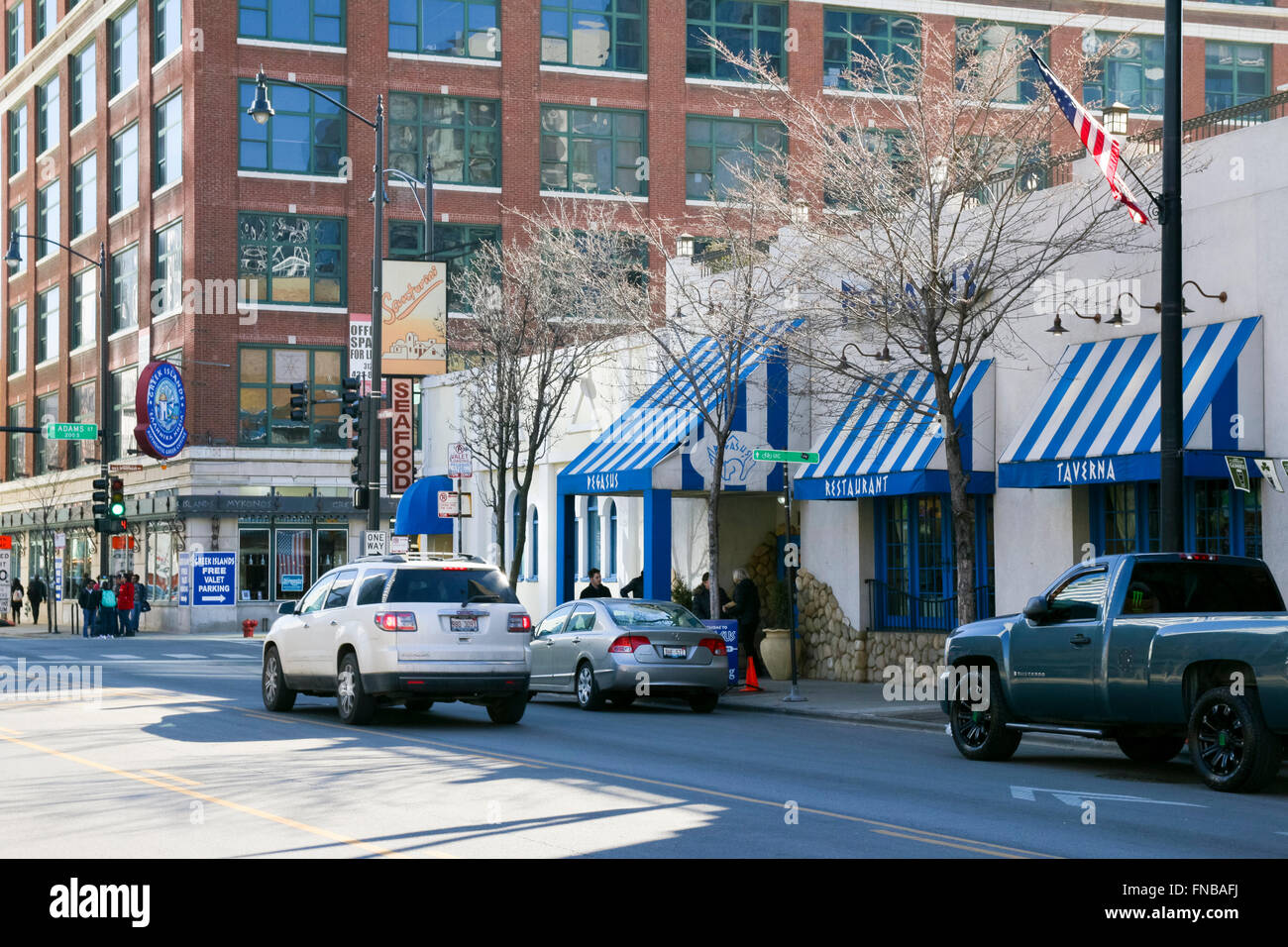 Greektown Chicago Illinois Greek Islands And Pegasus