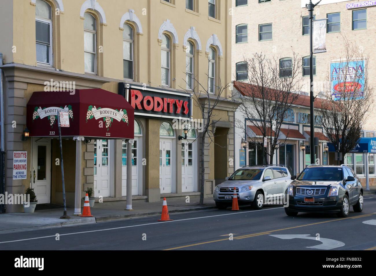 Greektown Chicago Illinois Roditys Restaurant Stock Photo