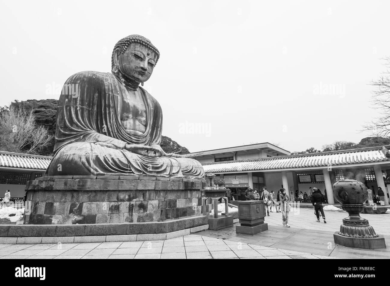 Amida Buddha, Kotoku-in, Buddhist temple, Kamakura, Kanagawa Prefecture, Japan - Stock Image