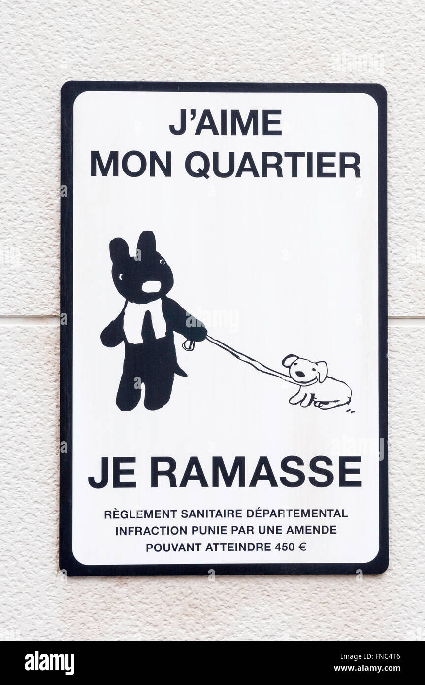 French sign \
