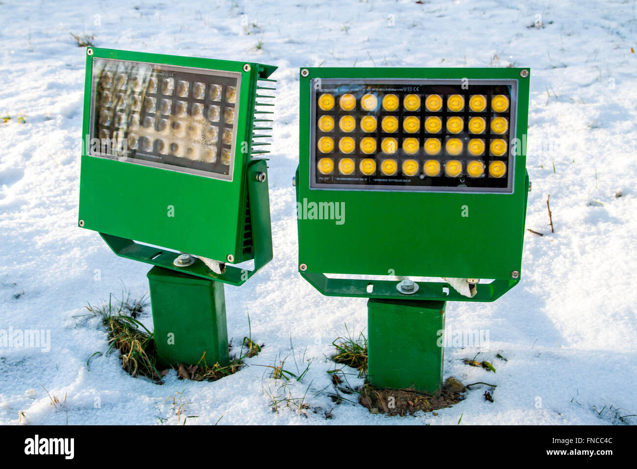 floodlight for building - Stock Image