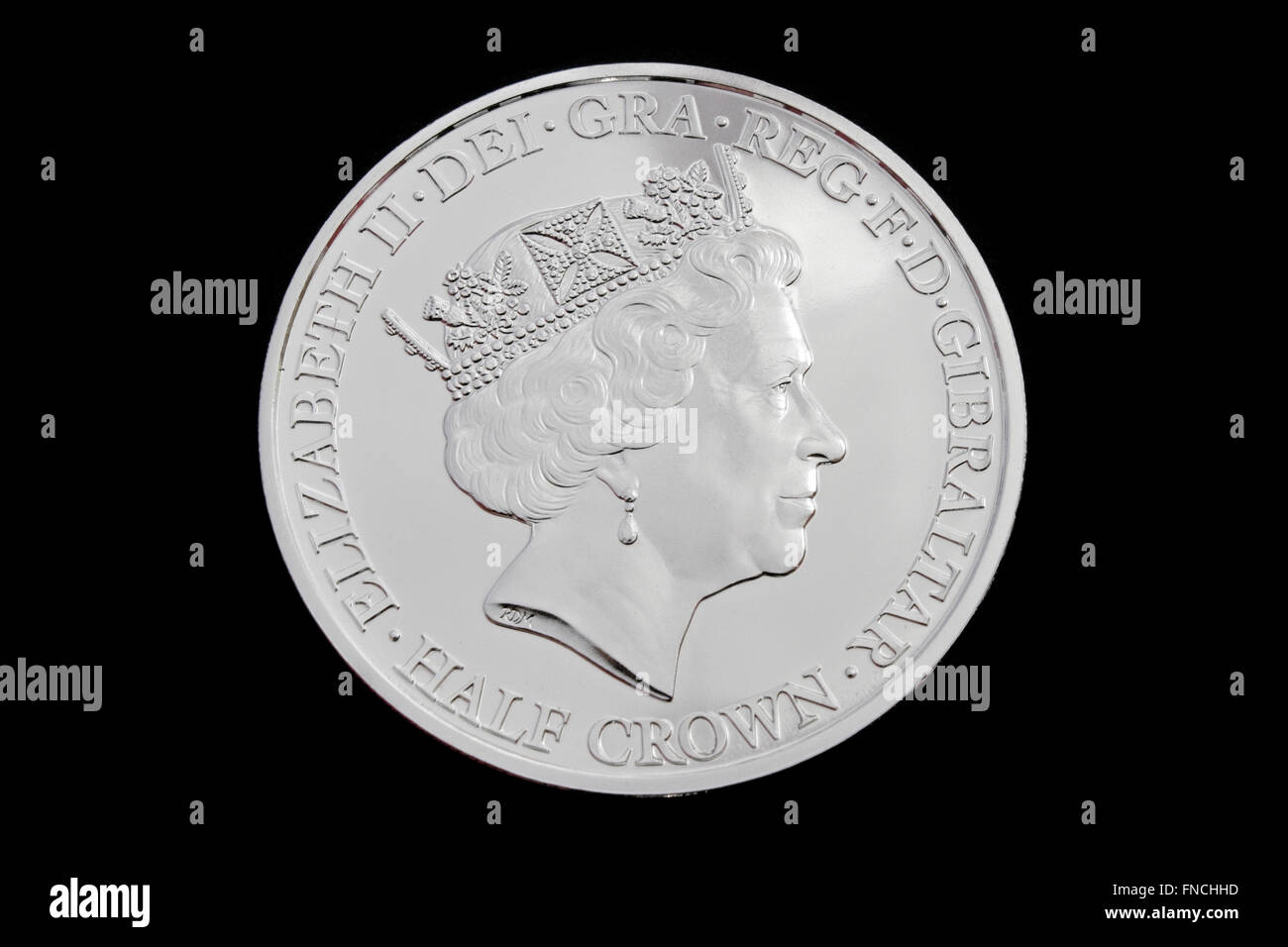 Queen Elizabeth II 90th Birthday commemorative Half Crown coin. - Stock Image