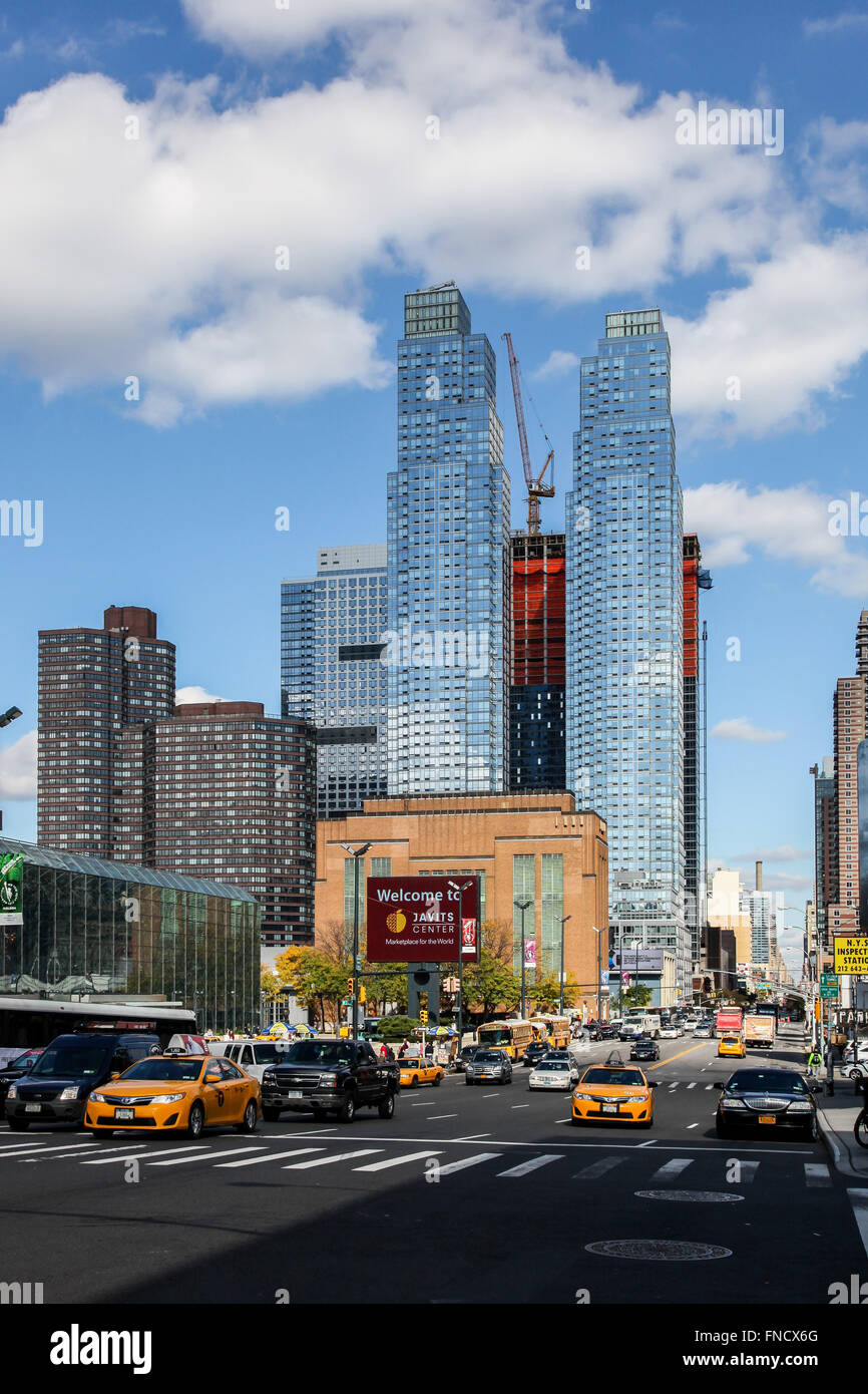 New York city architecture near Javits centr in New York, USA. Stock Photo