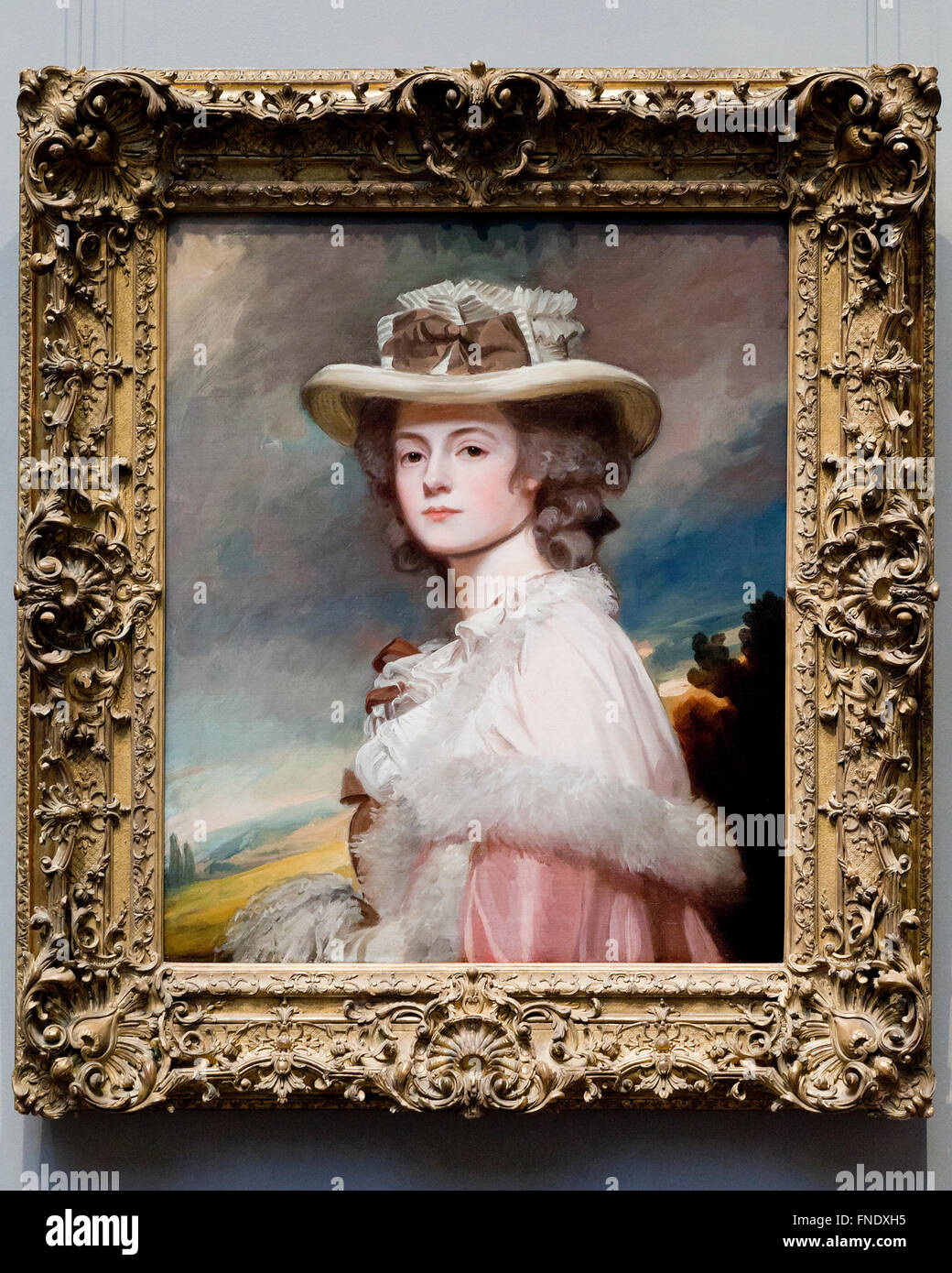 Mrs. Davies Davenport by George Romney, circa 1782 Stock Photo