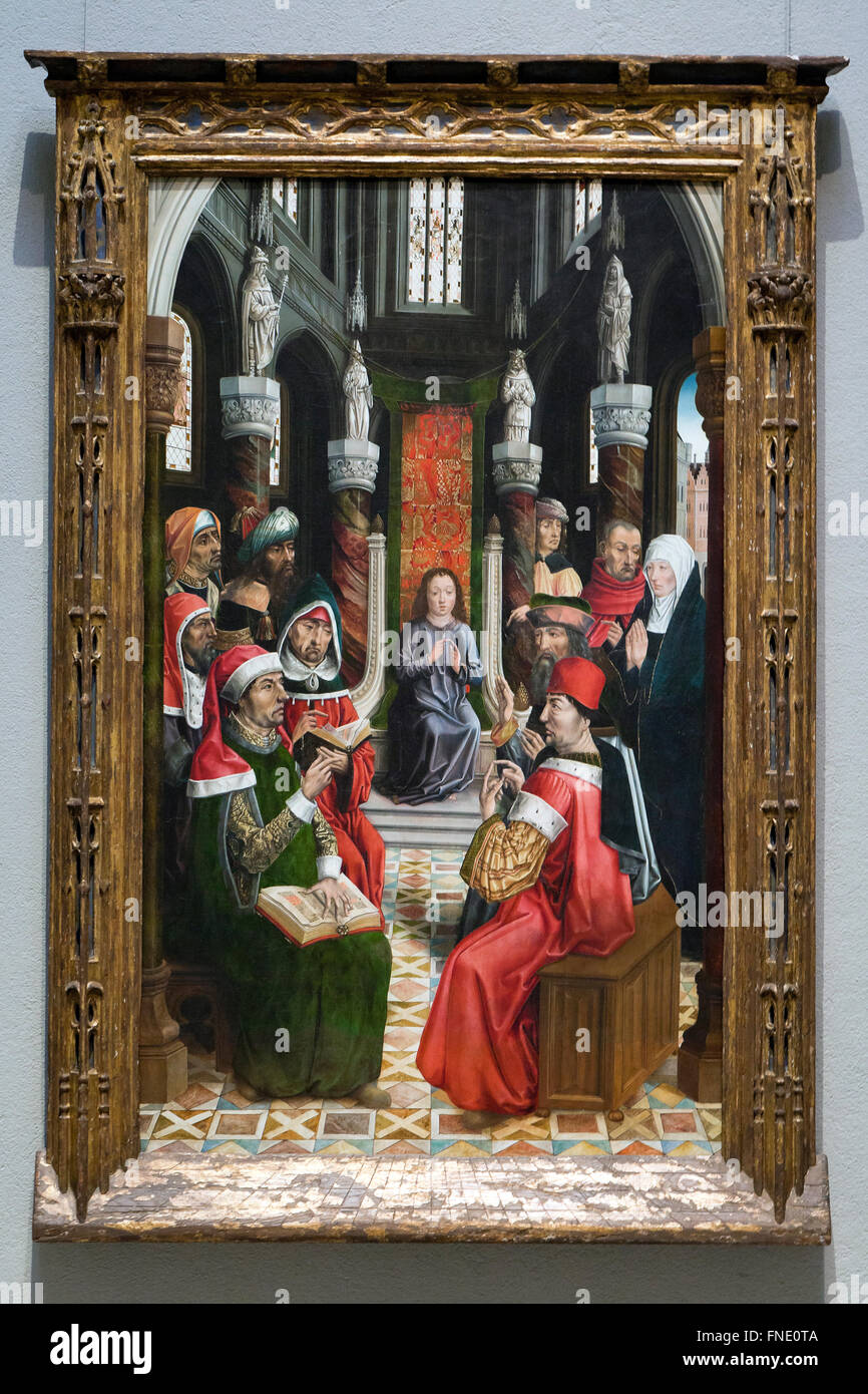 Christ Among the Doctors by Master of the Catholic Kings, circa 1495 - Stock Image