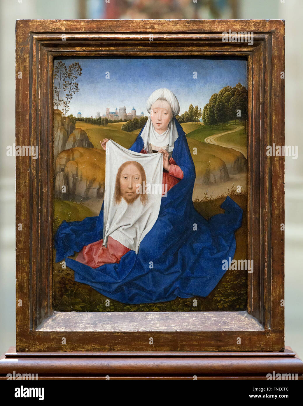 Saint Veronica (obverse) by Hans Memling, circa 1470 - Stock Image