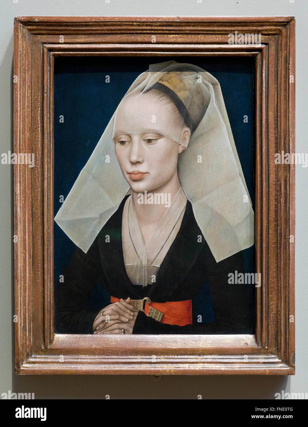 Portrait of a Lady by Rogier Van Der Weyden, circa 1460 - Stock Image