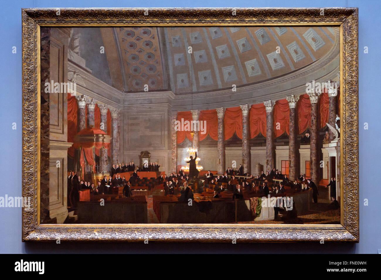 The House of Representatives by Samuel Finley Breese Morse, circa 1822 - Stock Image
