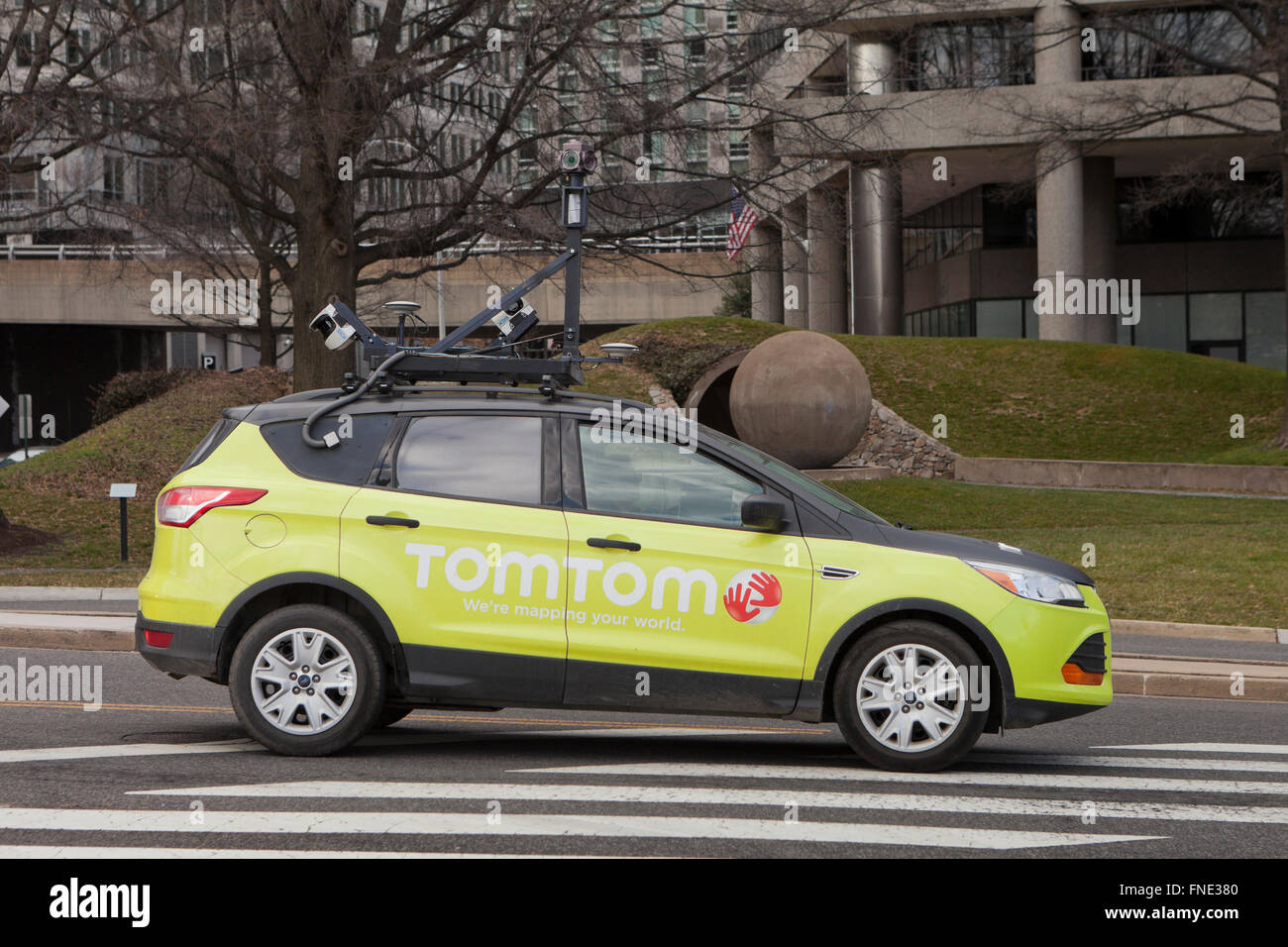 TomTom street view car - Virginia USA - Stock Image
