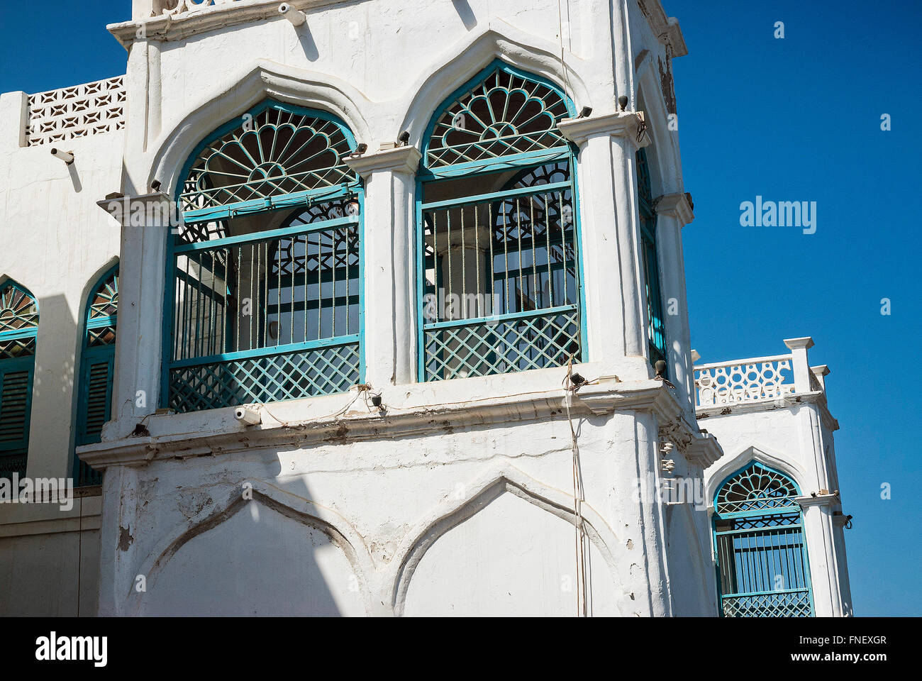 traditional arabic architecture detail in muscat old town oman - Stock Image