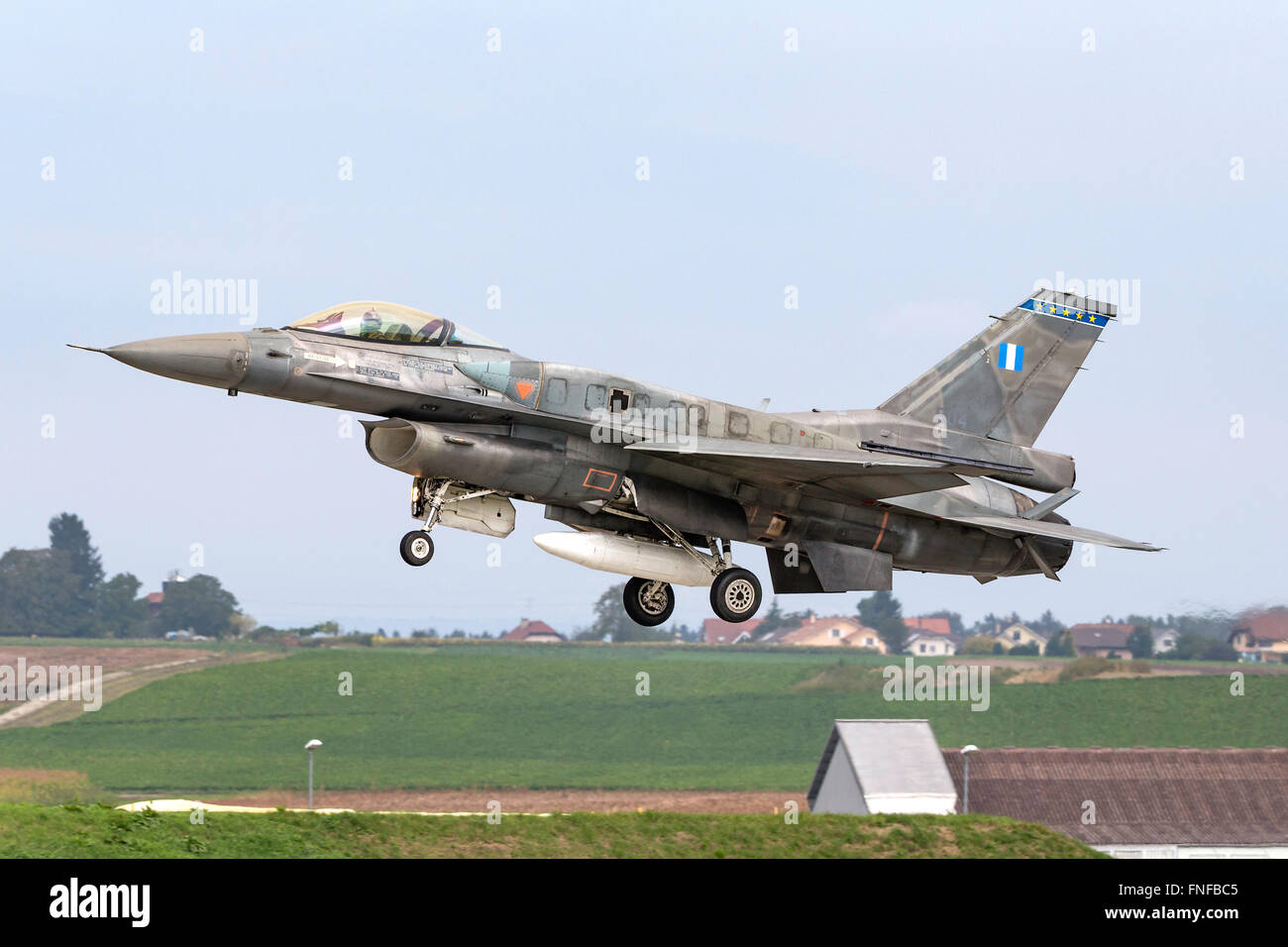 Greek Air Force (Hellenic Air Force, HAF) Lockheed Martin F-16 Fighting Falcon fighter aircraft - Stock Image