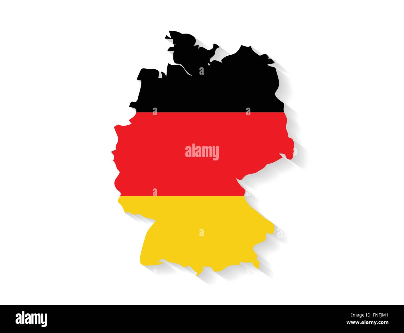 Country Of Germany Map.Germany Country Map With Flag And Shadow Effect Stock Vector Art