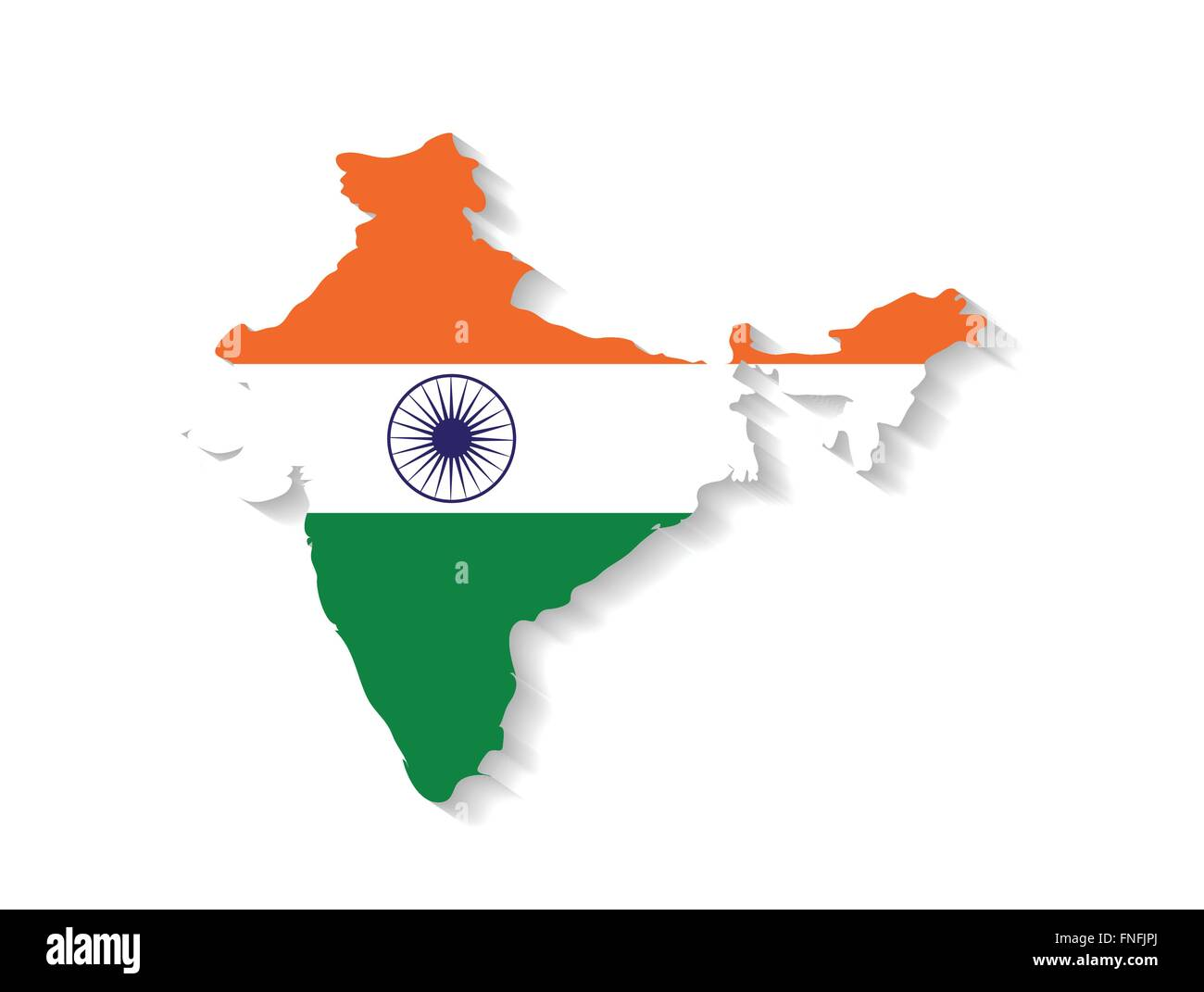 India country map with flag and shadow effect Stock Vector Art ... on india neighborhood map, gauhati india map, india uttarakhand rishikesh, india physical and political map, green india map, hindu kush mountains map, india state map, united states of america, rural india map, world map, south asia map, india map with bodies of water, india map recent, india continent map, taj mahal india location on map, india russia map, india hampi map, india physical map of rivers, india animal symbol, india khyber pass location, sri lanka, export by countries map,