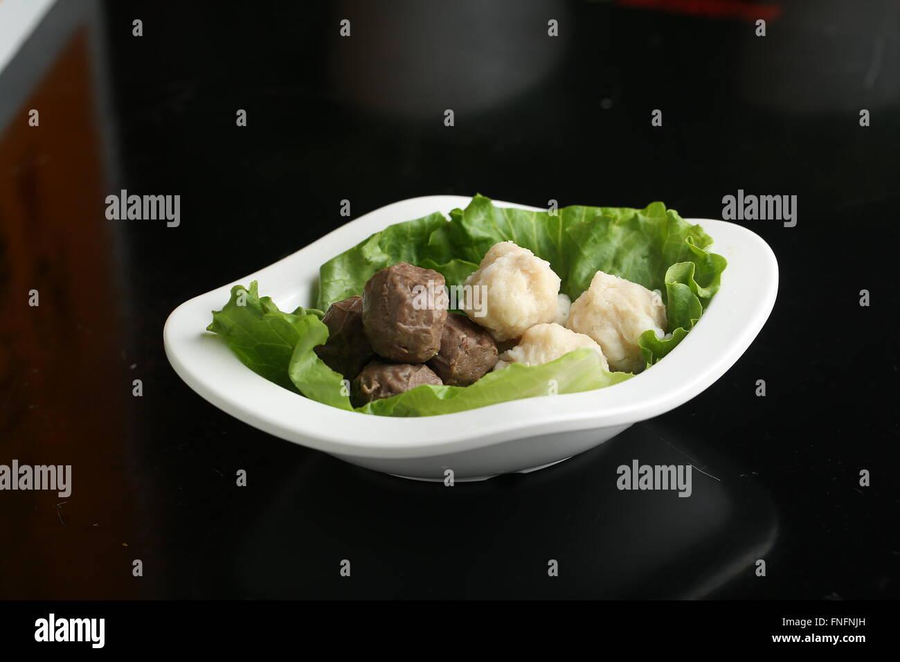 meat balls - Stock Image