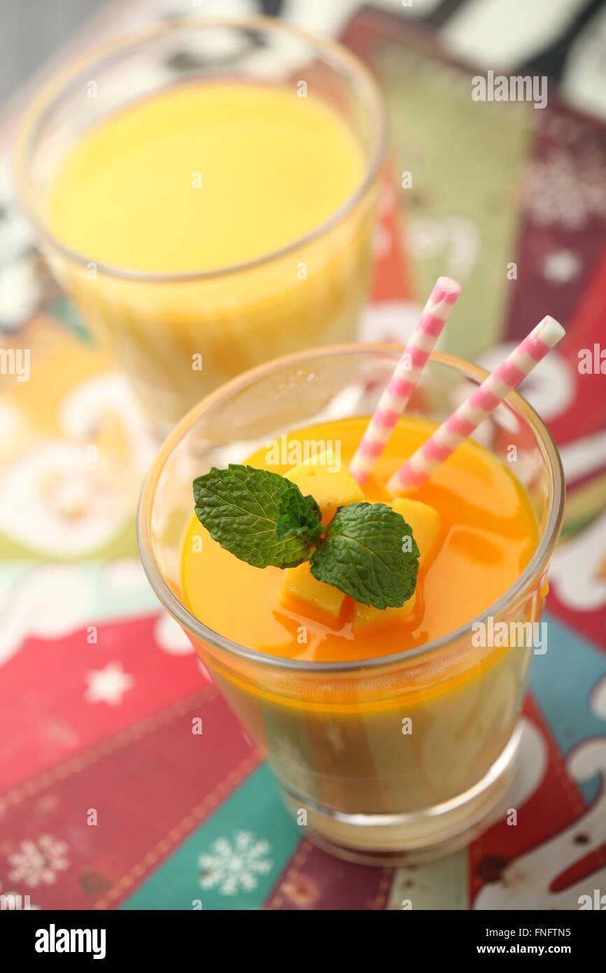 mango pudding - Stock Image