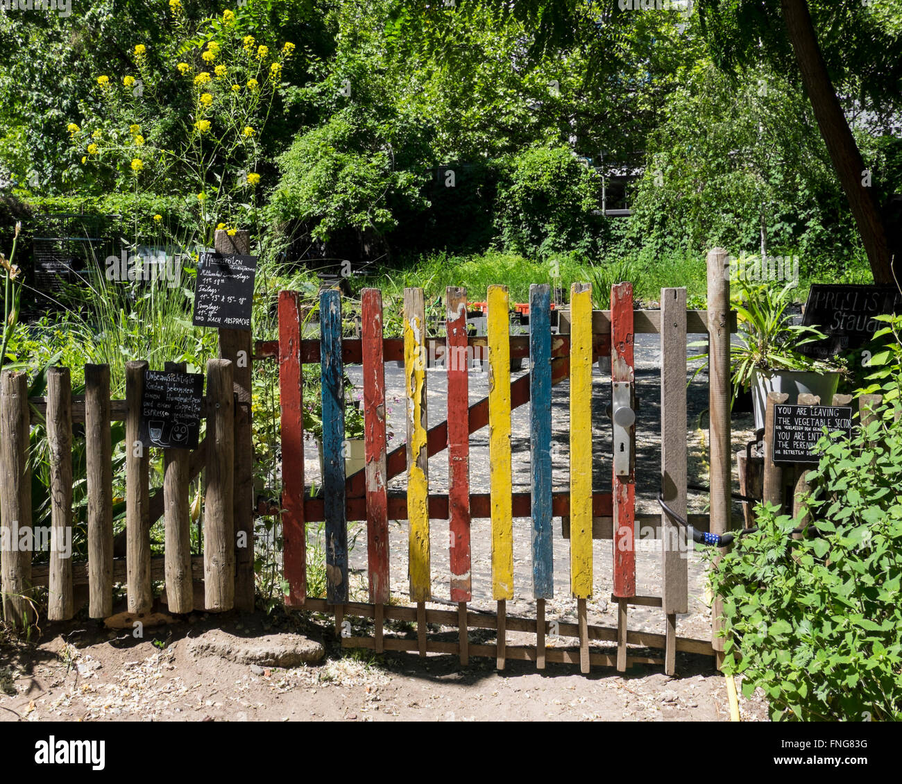 Prinzessinnengarten, Princesses Garden, An Urban Agricultural Project.  Gardeners Grow Vegetable And Use Recycled Materials
