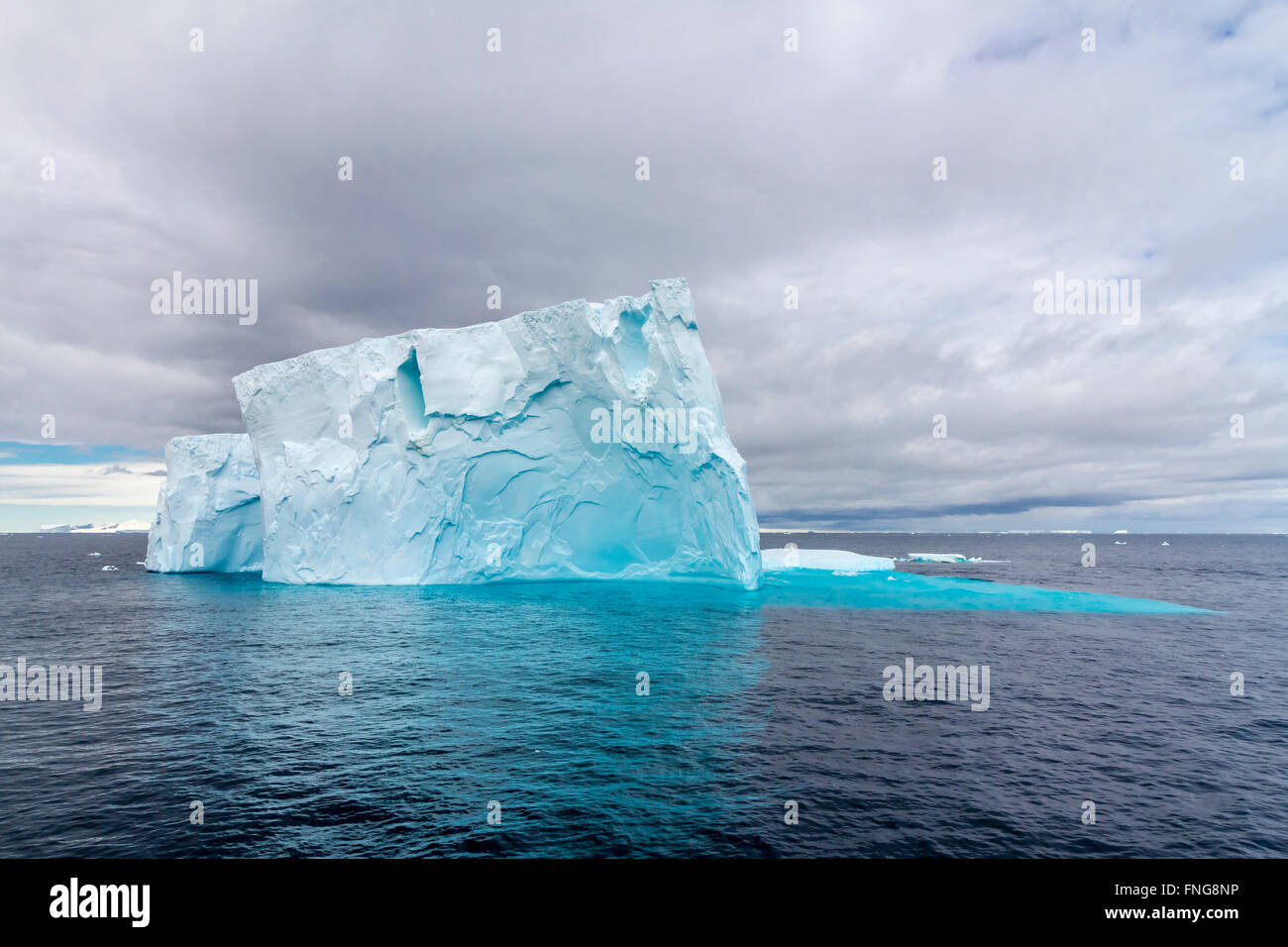 Icebergs in the Antarctic Peninsula, Antarctica. - Stock Image